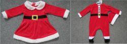 Spielanzug Kind-Samt-WeihnachtenFootie mit Hat+Dress