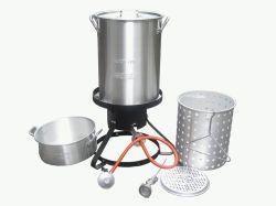 Im Freien kochender Aluminiumsatz