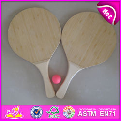 Estate Paddle Game Bat Set Beach Racket, Interesting Wooden Beach Bat e Ball Set, Promotional Wooden Beach Bat con Ball W01A117