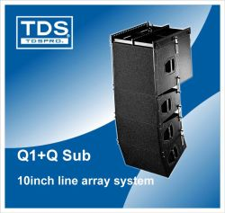 La doble armario altavoz vertical bidireccional 10 pulg.