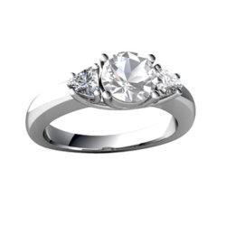 Fake Diamond CZ casamento de pedra do anel de engrenamento