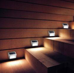 Angeschaltene Solarzaun-Solarlampe des Straßen-Verkehrszeichen-Jobstepp-Licht-2LED 3LED