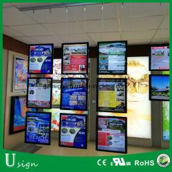 Haute luminosité affichage de publicité à l'intérieur Crystal Boîte à lumière pour la signalisation de l'immobilier