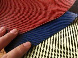 CF/Kevlar 200g Planície Preto/Amarelo & Sarjado tecidos híbridos de fibra de carbono