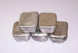 La pureza del metal de galio, el 99,999%.