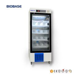 Biobase 겹켜 세륨 표를 가진 투명한 유리제 문 250L 강직한 유형 혈액 은행 냉장고