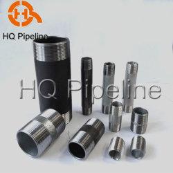 Acciaio inox/carbonio zincato/NPT nero Filettatura maschio nipplo/raccordo cilindrico/nipplo per tubo flessibile