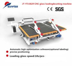 선적 기계 테이블을 끊는 수동 자동적인 CNC에 의하여 단단하게 하는 얇은 부유물에 의하여 박판으로 만들어지는 공기 수직 유리제 절단