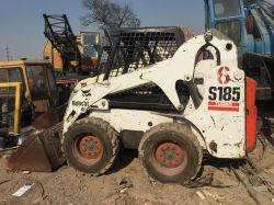 Backhoe Lader van het Wiel Bobcat van het Wiel de Bewegende Type Gebruikte S185