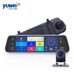 """10"""" 차 인조 인간 미러 4G Rearview Touchscreen 미러"""