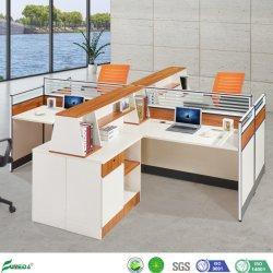 Grand espace de travail du personnel Bureau de la table de partition d'ordinateur Station de travail (AP16207-4)
