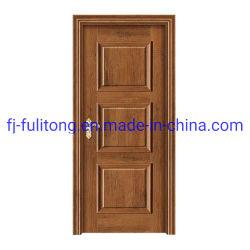 El interior de la puerta de madera de melamina de color marrón