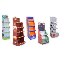 맞춤형 팝카드보드 카톤 디스플레이 선반, Cat Food용 판지 골판지 바닥 디스플레이 스탠드