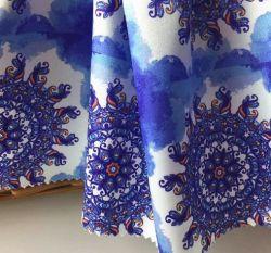 Twill 97%3%spandex polyester imprimé floral Stretch tissu satiné