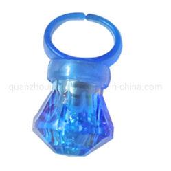 カスタマイズ可能な LED フラッシュ人工ダイヤモンドプラスチックカラフルライトリング
