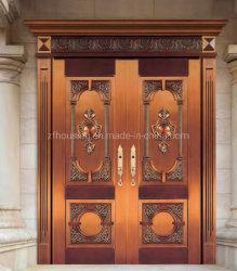 La sécurité de cuivre porte en acier de luxe pour le Nigéria porte d'entrée de la famille Zf-Ds-034