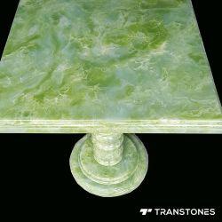 Lichtdurchlässiges grünes Onyx-Stein-Blatt für Hauptdekor-Tisch-Oberseite u. Schreibtisch