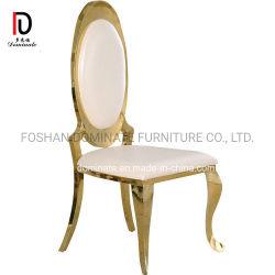 새로운 디자인 현대 왕 호화스러운 금 가구 스테인리스 결혼식 의자를 식사하는 황금 호텔 연회 대중음식점