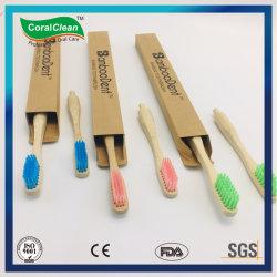 De biologisch afbreekbare Vervangbare Hoofd Volwassen Tandenborstel van het Bamboe