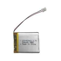 3.7V personalizados de íons de lítio de 650 mAh Shenzhen Nmc DTP453443 da bateria do fone de ouvido Bluetooth
