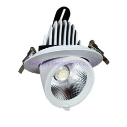 Voyant LED à gradation Downlight COB Spot de plafond encastré au plafond 85-265V Feux de l'éclairage intérieur