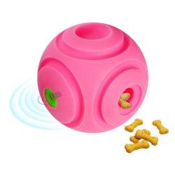 Sonido interactivas Squeak Toys perro Rodando la Bola y el tratamiento de la Dispensación Ball-Super Rosa grande