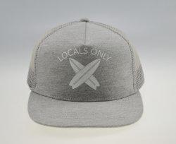 BSCIの灰色のジャージーによって印刷されるスポーツの網の子供の急な回復の帽子