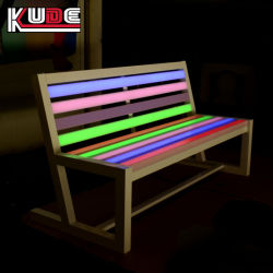 El apilamiento de los asientos de plástico silla LED China fabricante de muebles