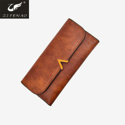 High Quality PU Leather Women Long Wallet Fashion Purse for Dames