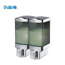 480мл*2 ванная комната ручной Soap-водоочиститель монтаж на стене и двойной головки блока цилиндров