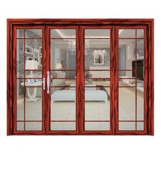 中国のドアの製造業者は韓国のバルコニーの浴室の木製のスライドガラスドアをカスタマイズする