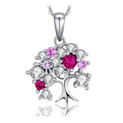 Árvore da Vida Colar Pendente 925 Sterling Silver Jóias para as mulheres por grosso