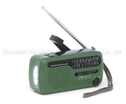 Dinamo Solar AM/FM/Sw Manivela de emergencia de la radio con cargador de teléfono móvil