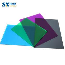 12mm feuille solide en polycarbonate transparent pour la construction de matériaux de construction
