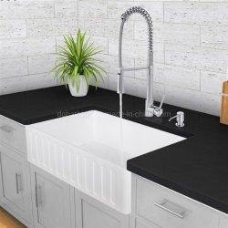 Superfície sólida de alta classe pia de cozinha de acrílico composto