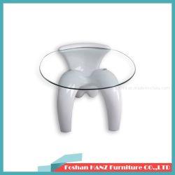 Mais barato de alta qualidade de forma plástica Templed chá de vidro mesa de café (Hz-T29W)