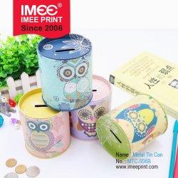 Raccord de créative Imee Housewares MÉNAGE Articles de papeterie Porte-plume et de stockage de pièces de monnaie de l'étain Boîte en métal