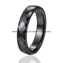 새로운 도착 흑백 색깔 배수는 세라믹 반지 광택 있는 다중 면을 낸 세라믹 반지를 구분한다