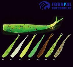 Split Queue en plastique souple doux leurres de pêche avec des ciseaux de la queue de diverses couleurs