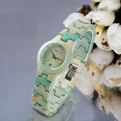 La conception spéciale Mesdames Mix main de luxe en alliage céramique Watch