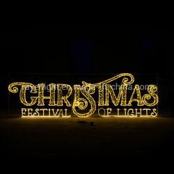 De Decoratie van de tuin steekt de Hangende Decoratie van Kerstmis van de LEIDENE Lichten van het Motief aan