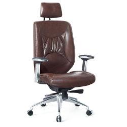 Couleur marron Haute en cuir de vache Back Office pour le gestionnaire de sièges pivotants