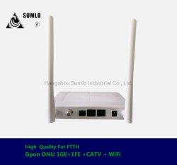 Gpon WiFi ONU 1ge 1 fe + кабельного телевидения (1*10/100/1000M и 1*10/100М) для доступа к FTTH