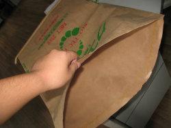 Alta Costura forte fundo marrom papel kraft para sacos de papel multifolha