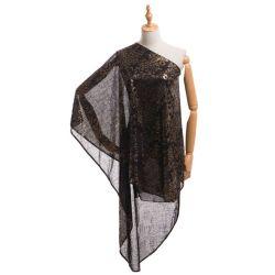 Neue reizvolle Hauch-Hülsen-Seite aufgeschlitzte Sequined Frauen-Kleider, die formale Kleider glätten