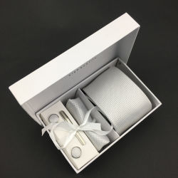 100% stellte handgemachter Silk der Jacquardwebstuhl-Gleichheit-ManschettenknopfHanky für Männer ein