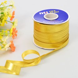 Metálico dorado reflectante sesgo sesgo cinta cinta de tuberías de cable