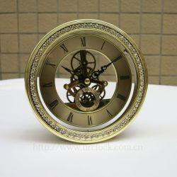 황금 둥근 Skleton 시계 삽입 148mm 최신 판매 시계 삽입 해골 시계 운동 중국 사람 제조자