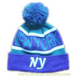 Women's 100% acrylique Brassard Jacquard Embriodery 3D HIVER Hat Beanie Hat Chapeau tricoté tricoté avec bille supérieure