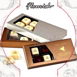 Contenitore impaccante di figura del cartone del documento di regalo di cioccolato variopinto speciale del contenitore per le feste